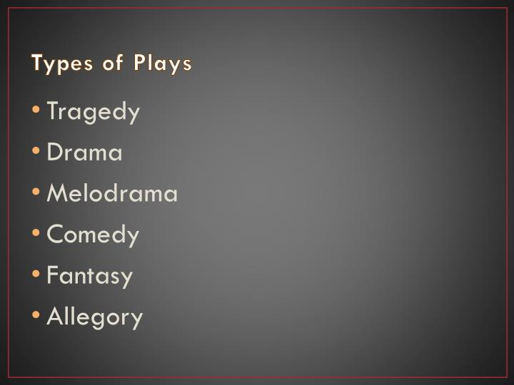 Types of Plays