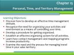personal time and territory management