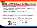 2012 2013 goals objectives