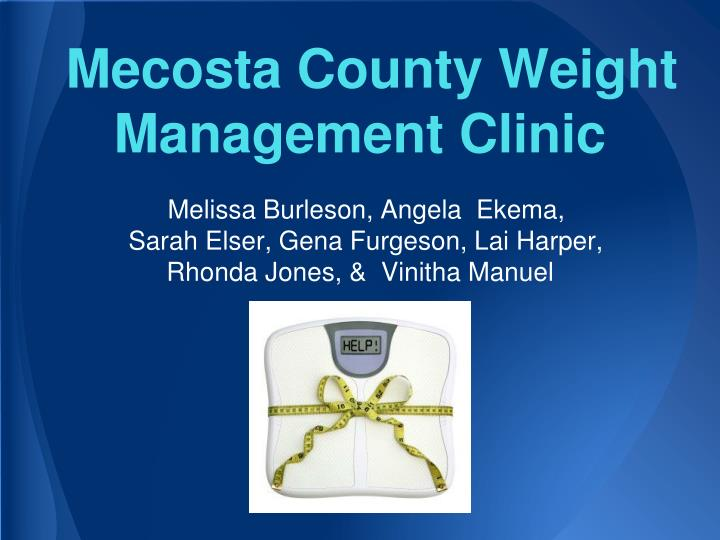Mecosta county weight management clinic