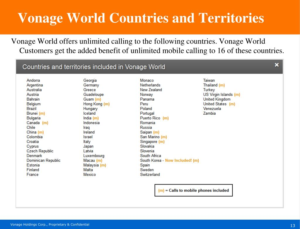 PPT - What We Are Selling Vonage Calling Plans PowerPoint