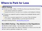 where to park for less