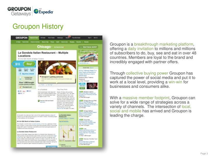 Groupon history