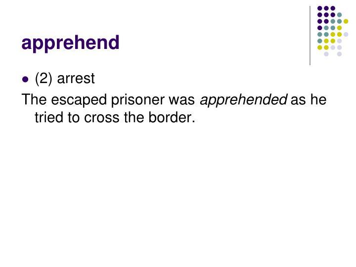 apprehend