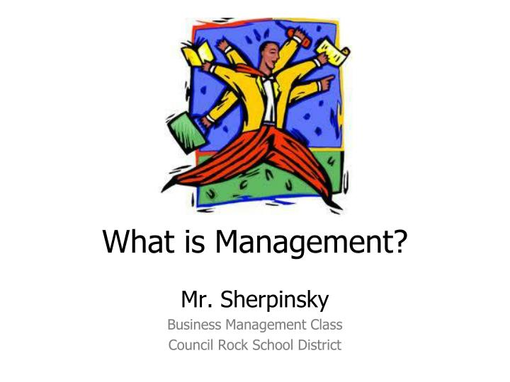 what is management n.