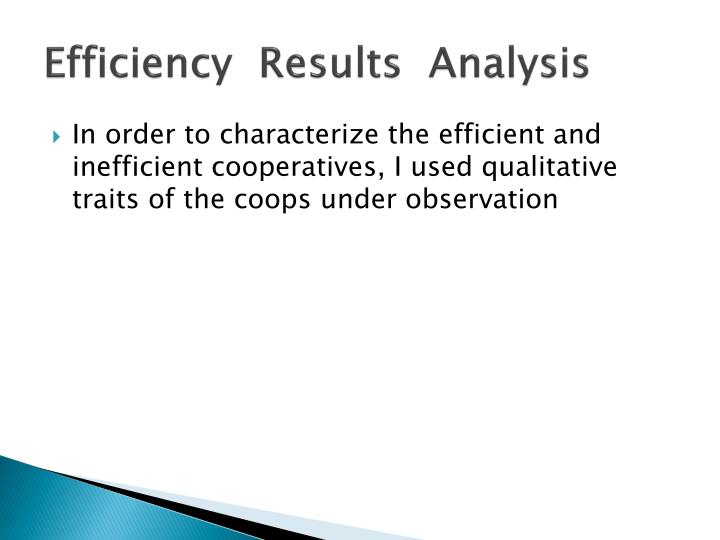 Efficiency  Results  Analysis