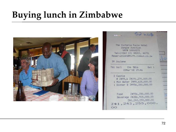 Buying lunch in Zimbabwe