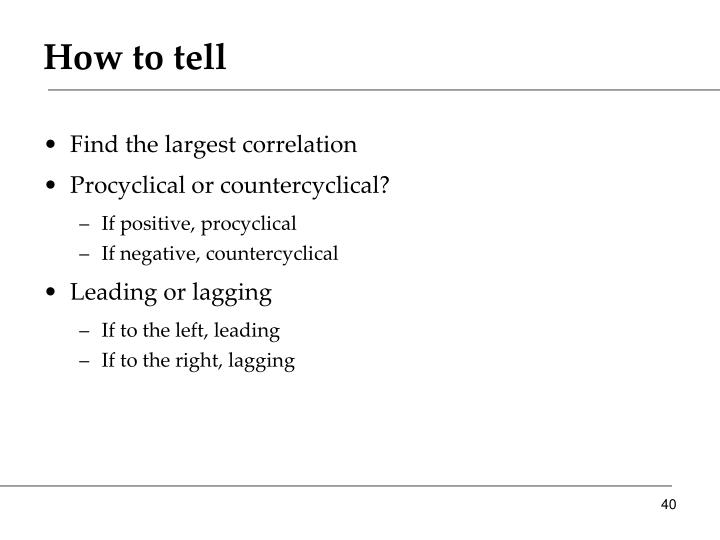 How to tell