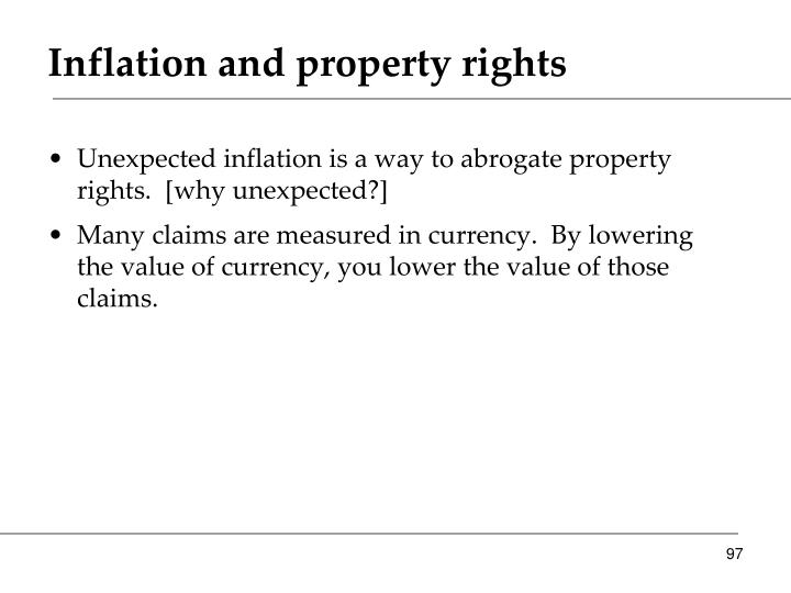 Inflation and property rights