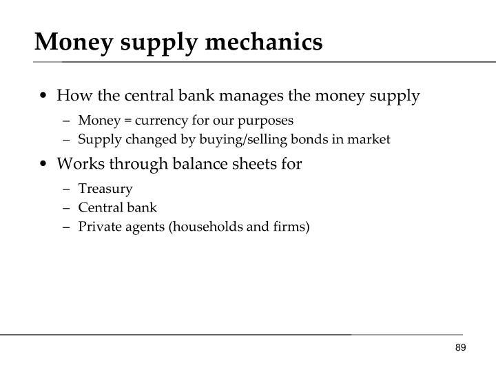 Money supply mechanics