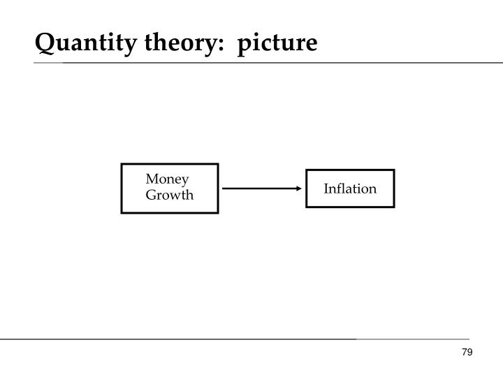 Quantity theory:  picture