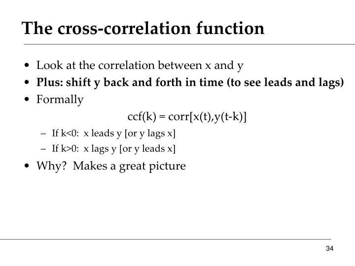 The cross-correlation function