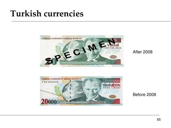 Turkish currencies