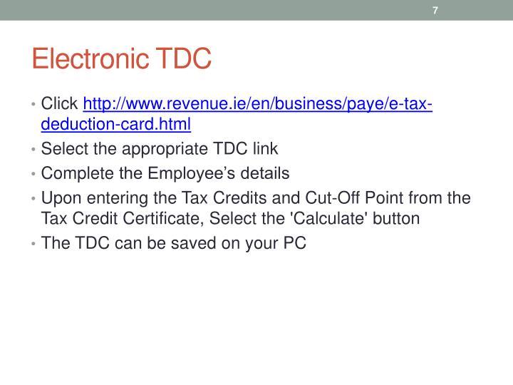 Electronic TDC