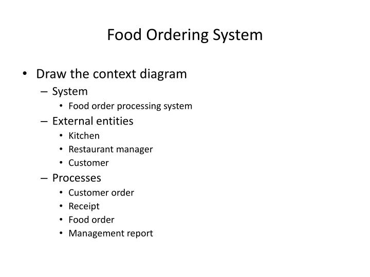 Ppt context diagram powerpoint presentation id1629371 food ordering system draw the context diagram ccuart Gallery