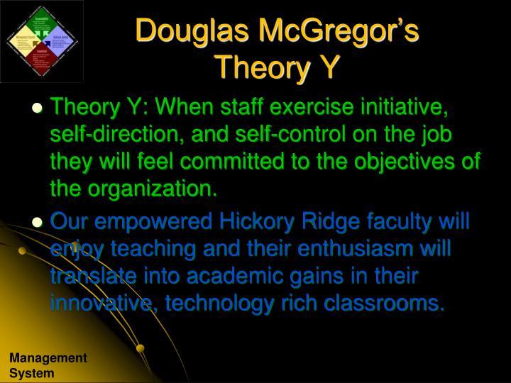 Douglas McGregor's