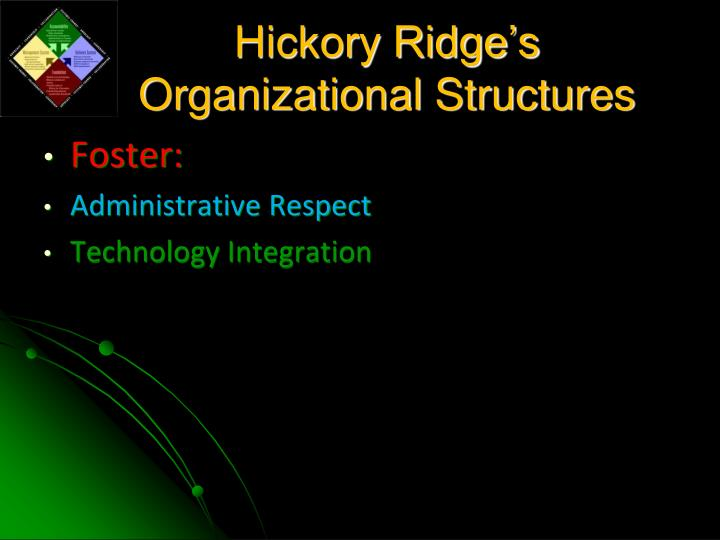 Hickory Ridge's Organizational Structures