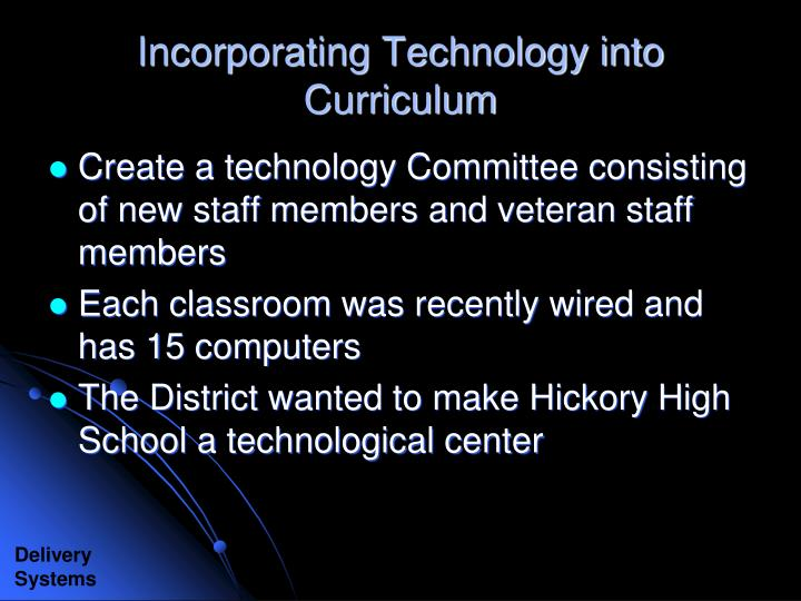 Incorporating Technology into Curriculum