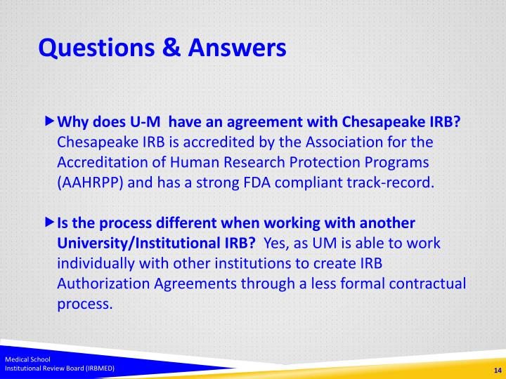 Ppt irbmed and chesapeake irb powerpoint presentation id1629465 questions answers platinumwayz