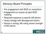 advisory board principles