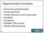 regional entity committees