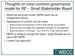 thoughts on most common governance model for re small stakeholder board