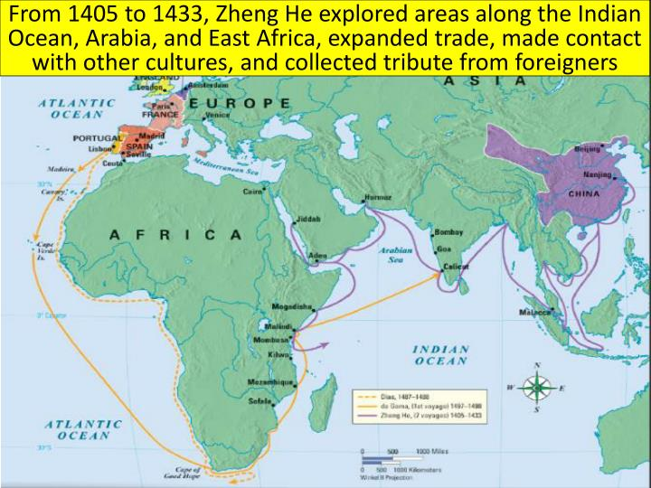 From 1405 to 1433,