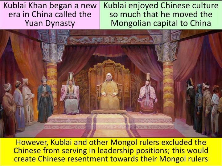 Kublai Khan began a new era in China called the Yuan Dynasty