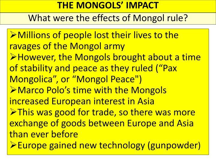 THE MONGOLS' IMPACT