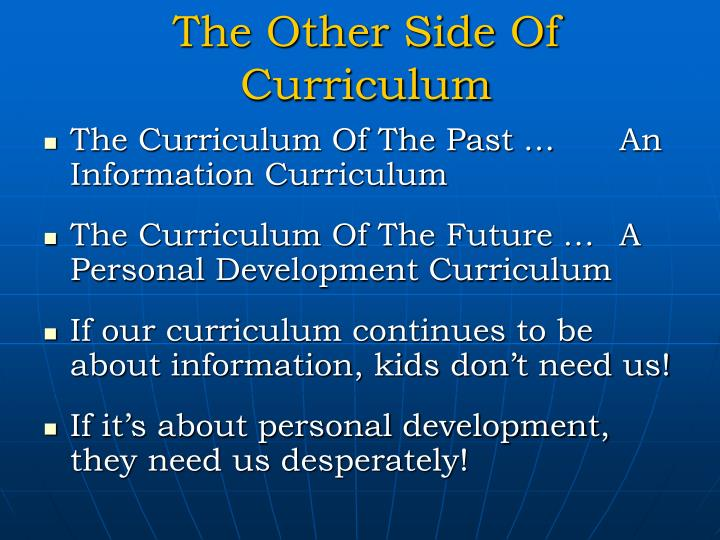 The Other Side Of Curriculum