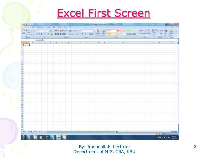 Excel First