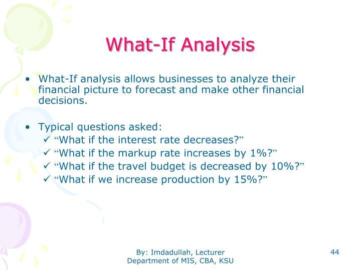 What-If Analysis