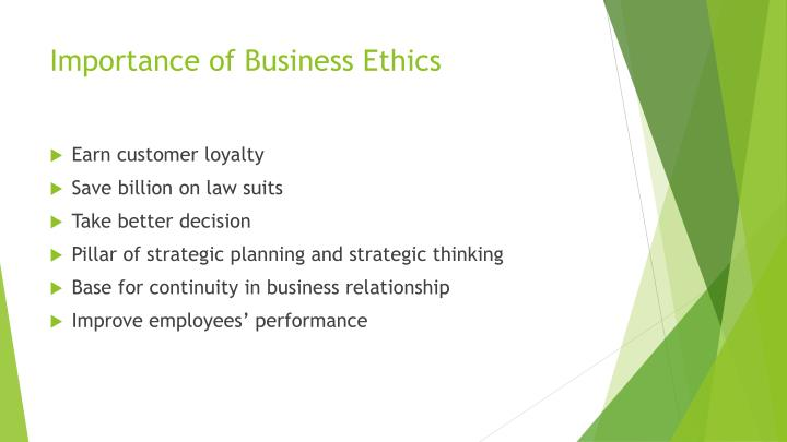the importance of ethics in business Defining 'ethics' and 'business ethics' ethics is derived from the greek word 'ethos' which means a person's fundamental orientation toward life ethics may be defined as a theory of morality which attempts to systematize moral.