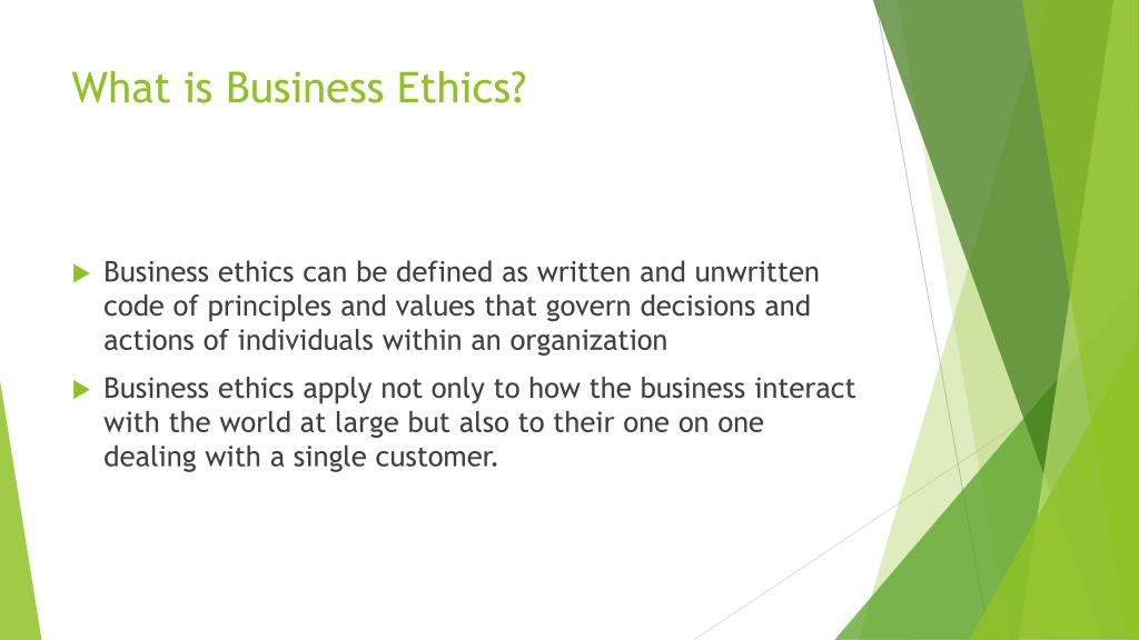 concept of business ethics ppt