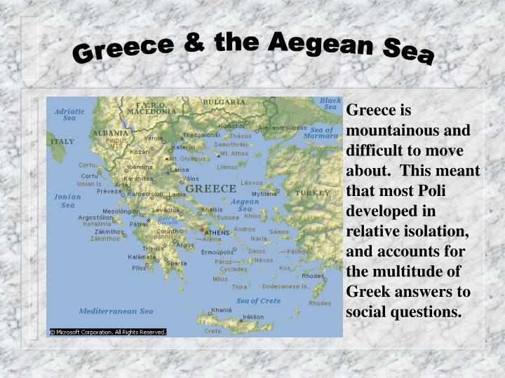 Greece & the Aegean Sea