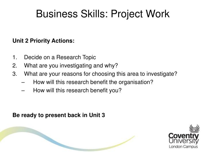 Business Skills: Project Work