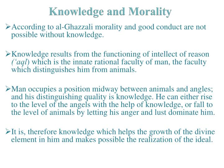 Knowledge and Morality