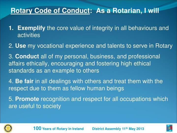Rotary Code of Conduct
