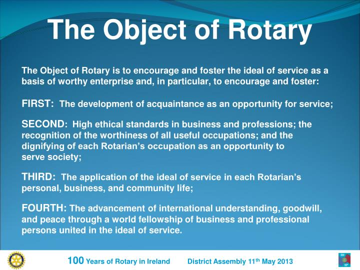 The Object of Rotary