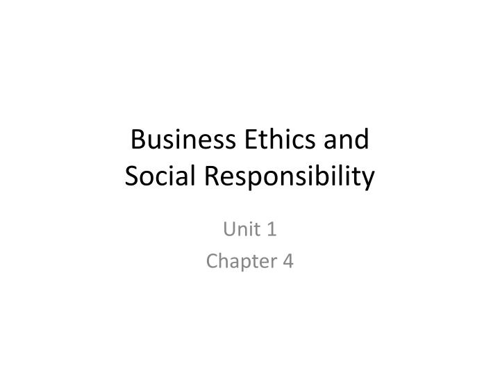 business ethics and social responsibility n.