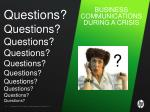 business communications during a crisis1