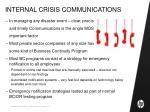 internal crisis communications