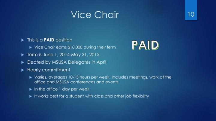 Vice Chair