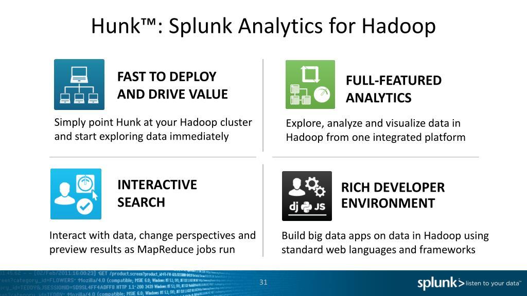 PPT - Introducing Hunk ™ S plunk Analytics for Hadoop Brett