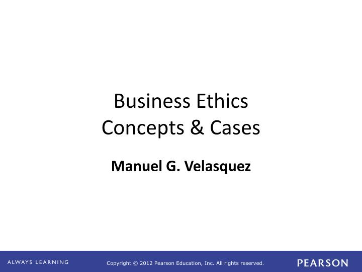 business ethics concepts cases n.