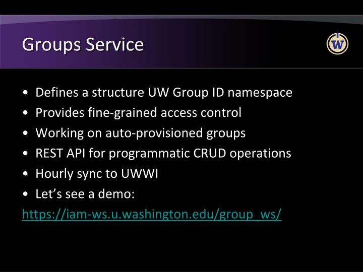 Groups Service