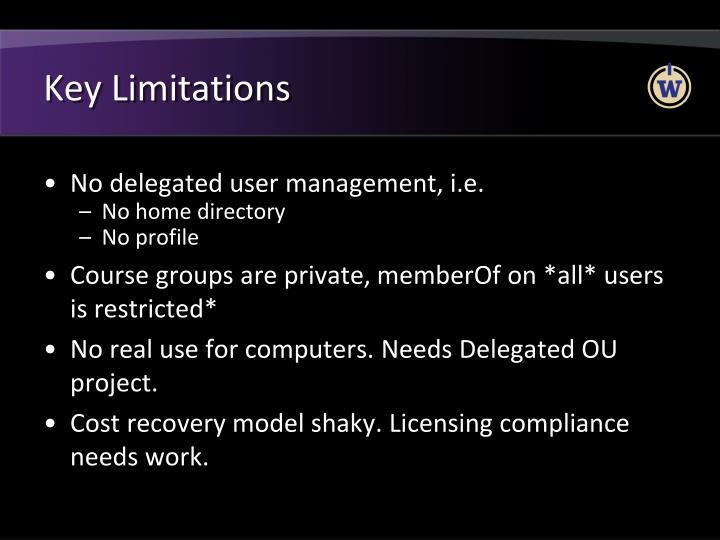 Key Limitations