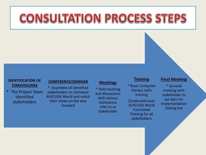 CONSULTATION PROCESS STEPS