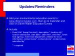 updates reminders