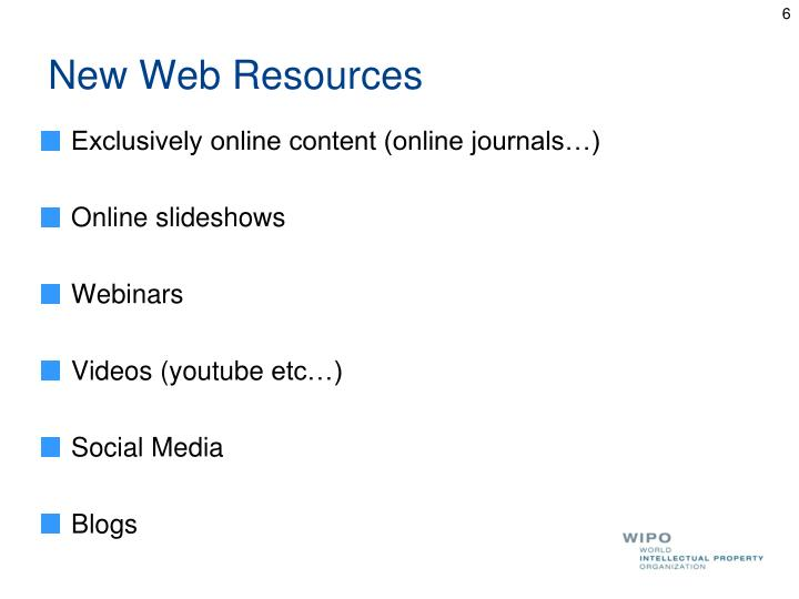 New Web Resources